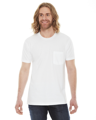 American Apparel Unisex Fine Jersey Pocket Short-Sleeve T-Shirt