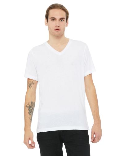 Unisex Triblend Short-Sleeve V-Neck T-Shirt