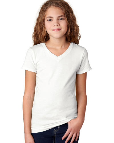 Next Level Girls' Adorable V-Neck Tee