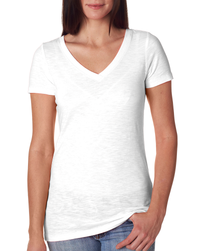 Next Level Ladies' Slub Crossover V-Neck Tee