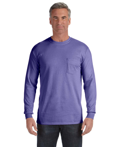 Comfort Colors Pigment-Dyed Long-Sleeve Pocket T-Shirt