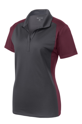 Sport-Tek Ladies Colorblock Micropique Sport-Wick Polo