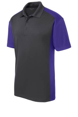 Sport-Tek Colorblock Micropique Sport-Wick Polo