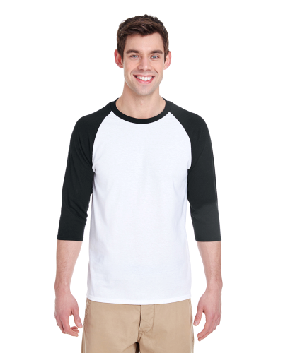 Heavy Cotton 3/4-Sleeve Raglan