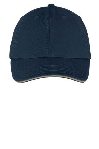 Port & Company Washed Twill Sandwich Bill Cap