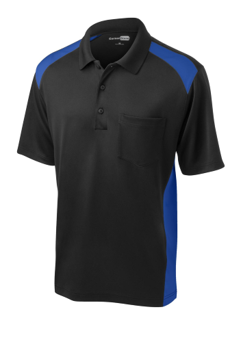 CornerStone Select Snag-Proof Two Way Colorblock Pocket Polo