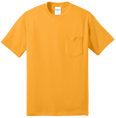 Port & Company 50/50 Cotton/Poly T-Shirt with Pocket