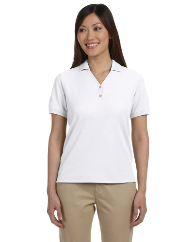 Ladies' Pima Piqu? Short-Sleeve Y-Collar Polo