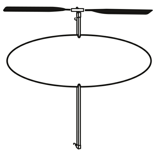 White Oval Helicopter as seen from the front