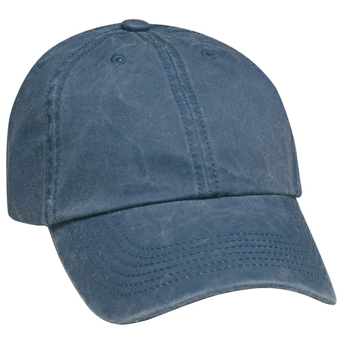 Navy Washed Cap as seen from the front