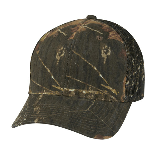 Mossy Oak Hunter 's Retreat Mesh Back Camouflage Cap as seen from the front