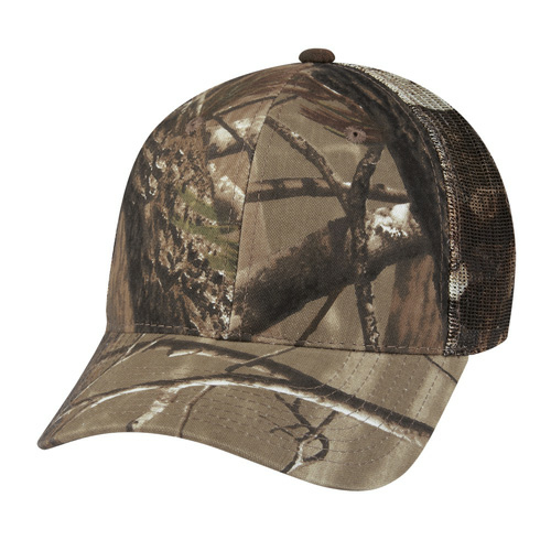 Real Tree Hunter 's Retreat Mesh Back Camouflage Cap as seen from the front