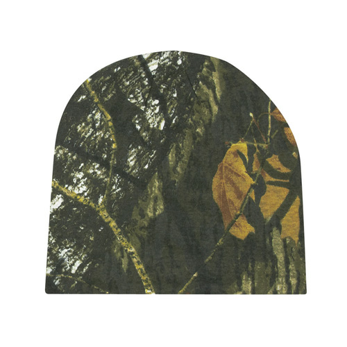 Mossy Oak Camouflage Beanie as seen from the front