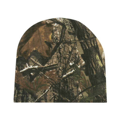 Real Tree Camouflage Beanie as seen from the front