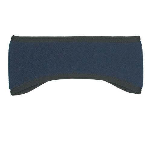 Navy Fleece Ear Band as seen from the front