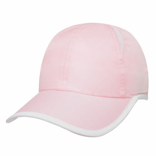 Pink/white Dry Cap as seen from the front