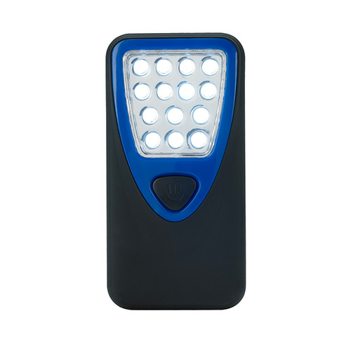 Blue Rubberized Working Light With Heavy Duty Magnet as seen from the front