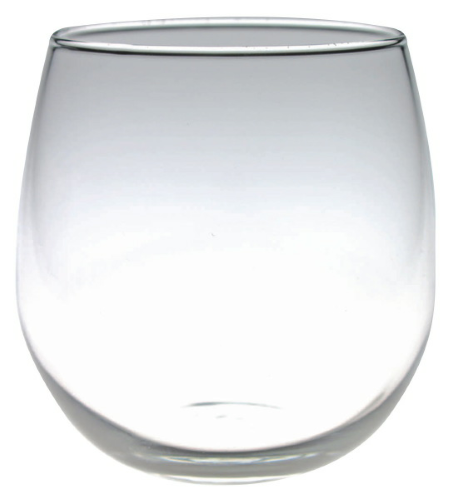 16.75 oz Stemless Red Wine Glass