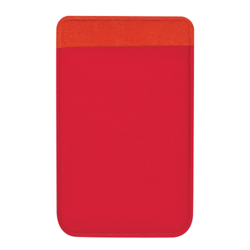 Red Lycra Card Sleeve as seen from the front