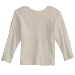 Natural Organic Infant Long Sleeve Lapover as seen from the back