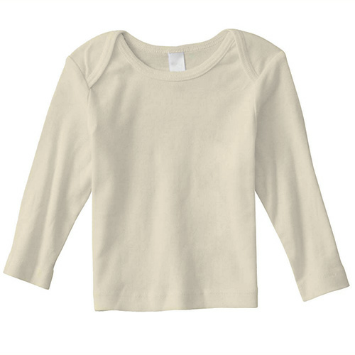 Natural Organic Infant Long Sleeve Lapover as seen from the front