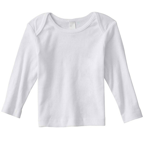 Salt Organic Infant Long Sleeve Lapover as seen from the front