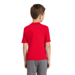 Red MADE IN USA Toddler Fine Jersey Short-Sleeve T-Shirt as seen from the back