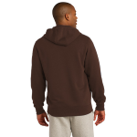 Bark Organic Full Zip Hooded Sweatshirt as seen from the back