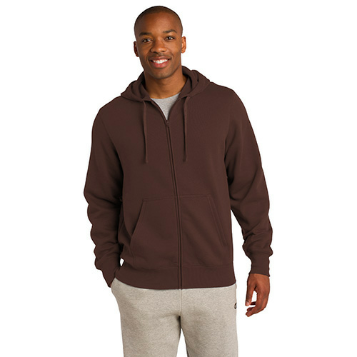 Bark Organic Full Zip Hooded Sweatshirt as seen from the front