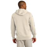 Natural Organic Full Zip Hooded Sweatshirt as seen from the back