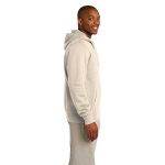 Natural Organic Full Zip Hooded Sweatshirt as seen from the sleeveright