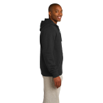 Night Organic Full Zip Hooded Sweatshirt as seen from the sleeveright