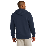 Ocean Organic Full Zip Hooded Sweatshirt as seen from the back