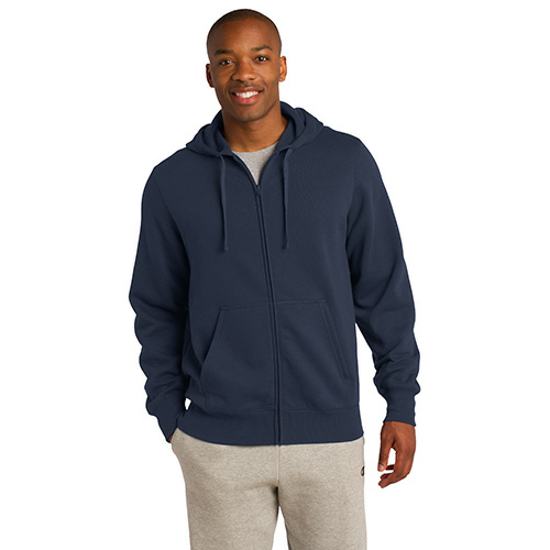 Ocean Organic Full Zip Hooded Sweatshirt as seen from the front