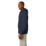 Ocean Organic Full Zip Hooded Sweatshirt as seen from the sleeveleft