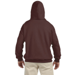 Bark Organic-Hooded Pullover Sweatshirt as seen from the back