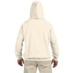 Natural Organic-Hooded Pullover Sweatshirt as seen from the back