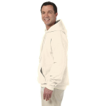 Natural Organic-Hooded Pullover Sweatshirt as seen from the sleeveleft