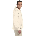 Natural Organic-Hooded Pullover Sweatshirt as seen from the sleeveright