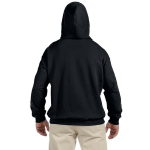 Night Organic-Hooded Pullover Sweatshirt as seen from the back