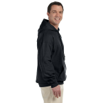 Night Organic-Hooded Pullover Sweatshirt as seen from the sleeveright