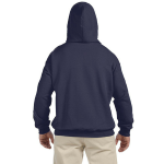 Ocean Organic-Hooded Pullover Sweatshirt as seen from the back