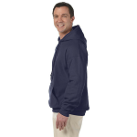 Ocean Organic-Hooded Pullover Sweatshirt as seen from the sleeveleft
