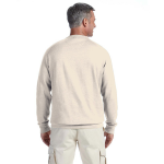 Natural Organic Raglan Crew Neck Sweatshirt as seen from the back