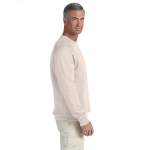 Natural Organic Raglan Crew Neck Sweatshirt as seen from the sleeveright