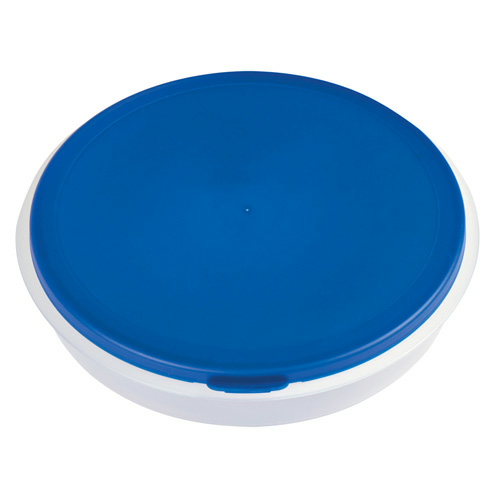 Blue Collapsible Big Lunch Bowl as seen from the front