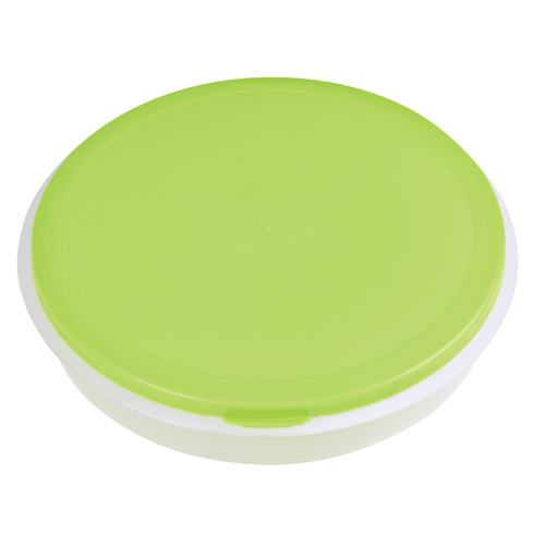 Green Collapsible Big Lunch Bowl as seen from the front