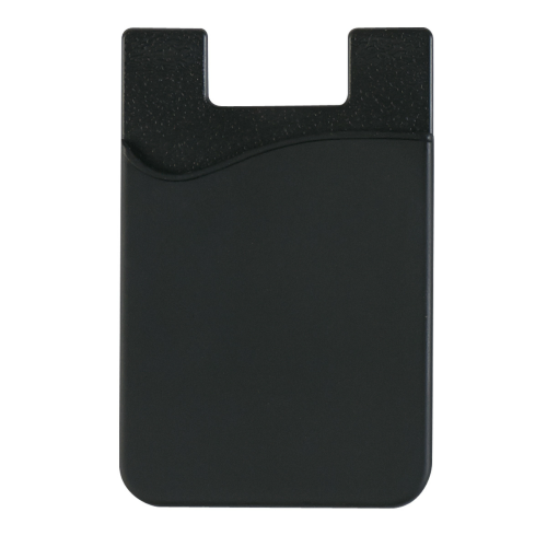Black Silicone Card Sleeve as seen from the front
