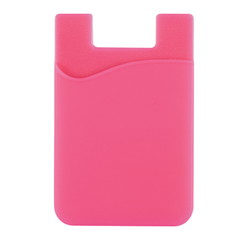 Pink Silicone Card Sleeve as seen from the front