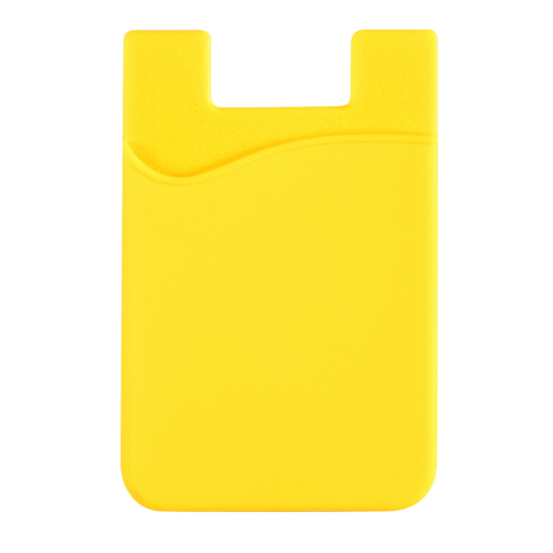 Yellow Silicone Card Sleeve as seen from the front